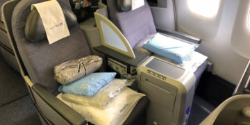 United Airlines gammel Polaris Business Class