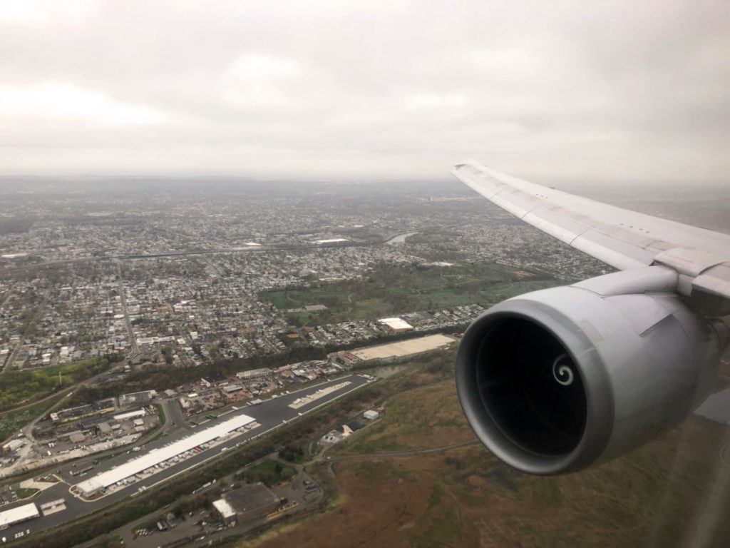 Innflygning Newark