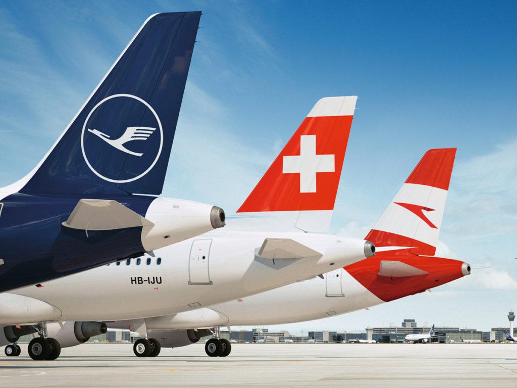 Fly fra Lufthansa, SWISS og Austrian Airlines