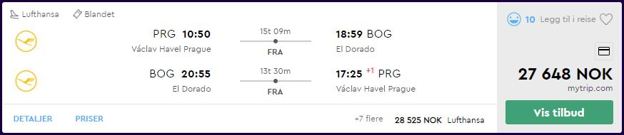 Lufthansa First Class til Bogoto på momondo.no
