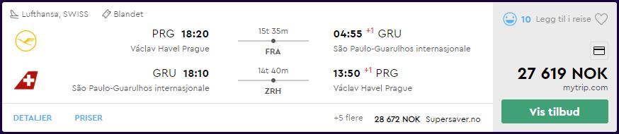 SWISS og Lufthansa First Class til São Paulo på momondo.no