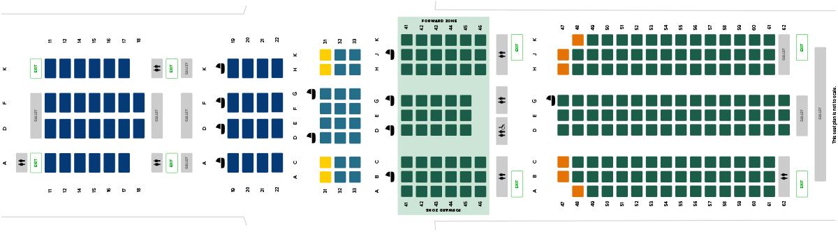 Singapore Airlines Long Haul Airbus A350-900 setekart