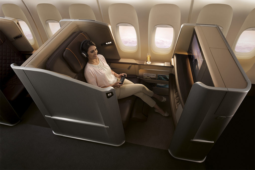 Singapore Airlines First Class Boeing 777-300ER
