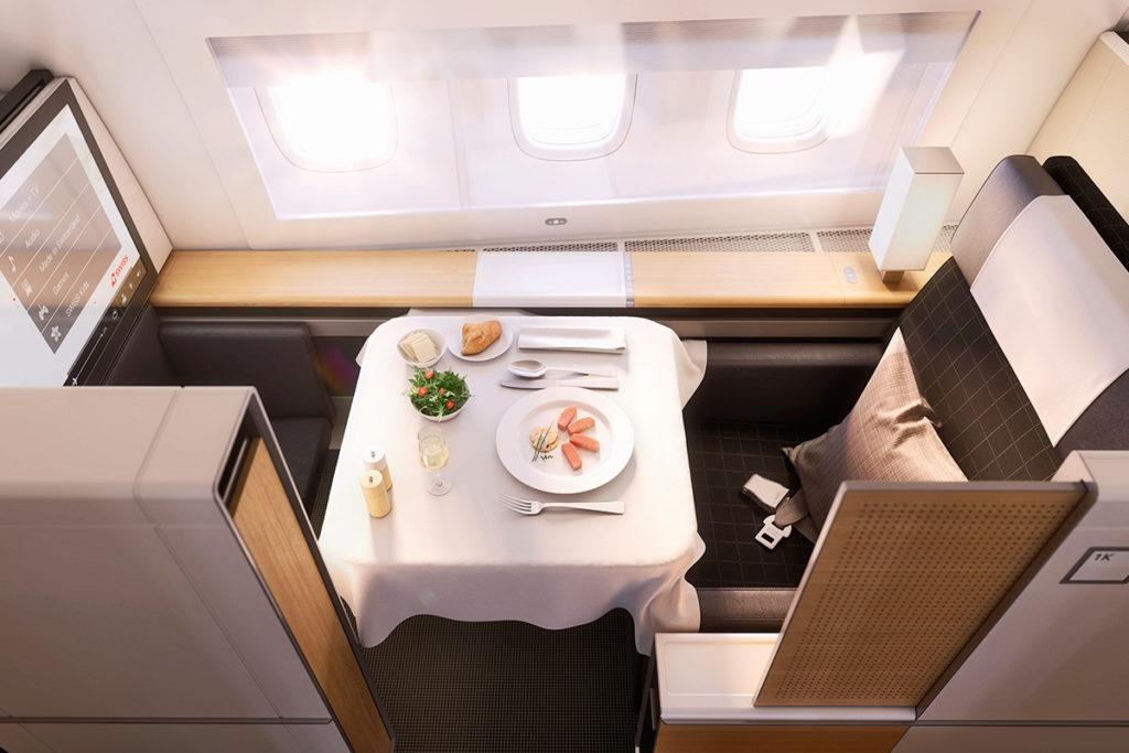 SWISS First Class Boeing 777