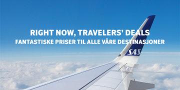 SAS Travelers deals kampanje mai 2019