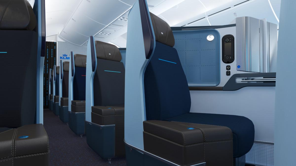KLM World Business Class Boeing 787-9 Dreamliner