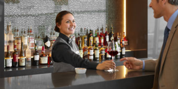 American Airlines Admirals Club bar