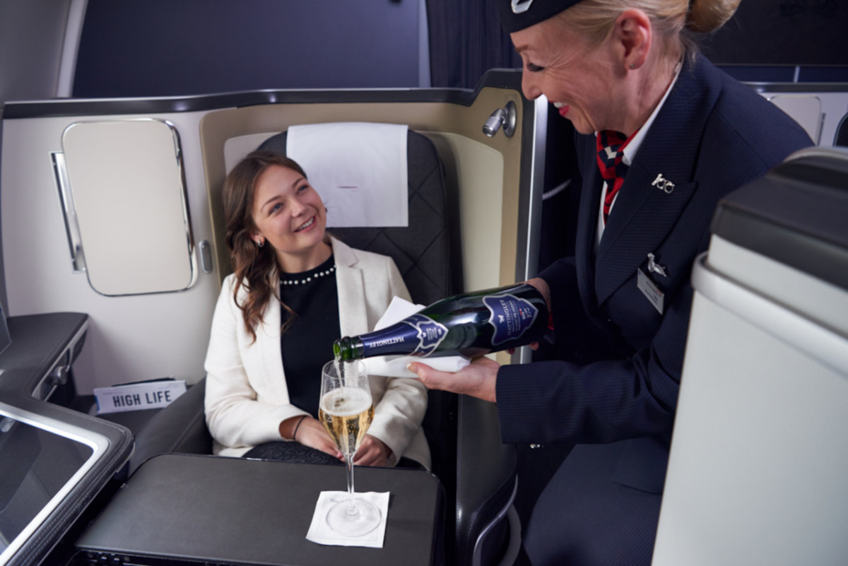 British Airways Hattingley Valley musserende vin