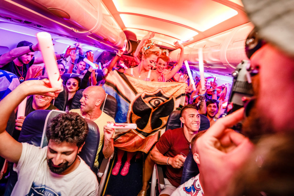 Brussels Airlines Tomorrowland party flight