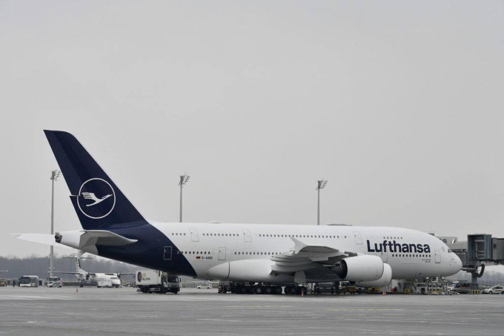 Lufthansa Airbus A380 i München