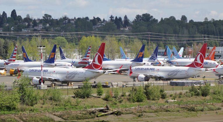 Boeing 737 MAX på bakken