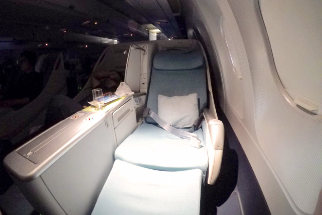 Korean Air Business Class Airbus A330 sete