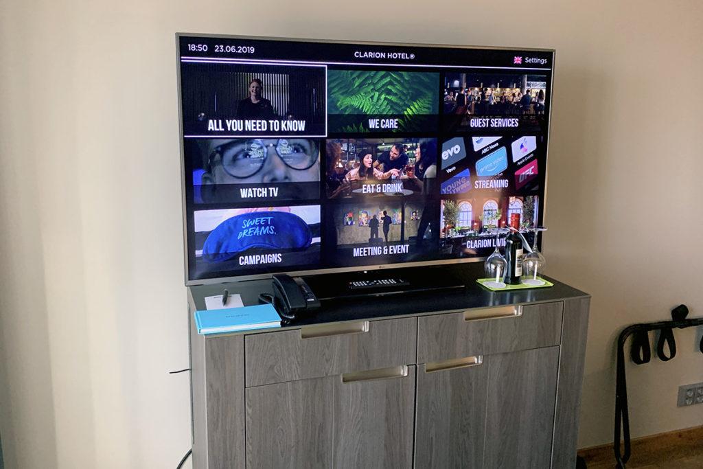 smart-tv og minibar