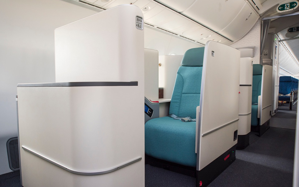 Korean Air Boeing 787-9 Dreamliner business class