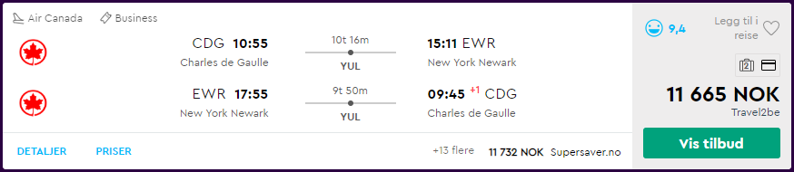 Star Alliance business class til Nord-Amerika