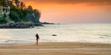 Solnedgang i Phuket, Thailand