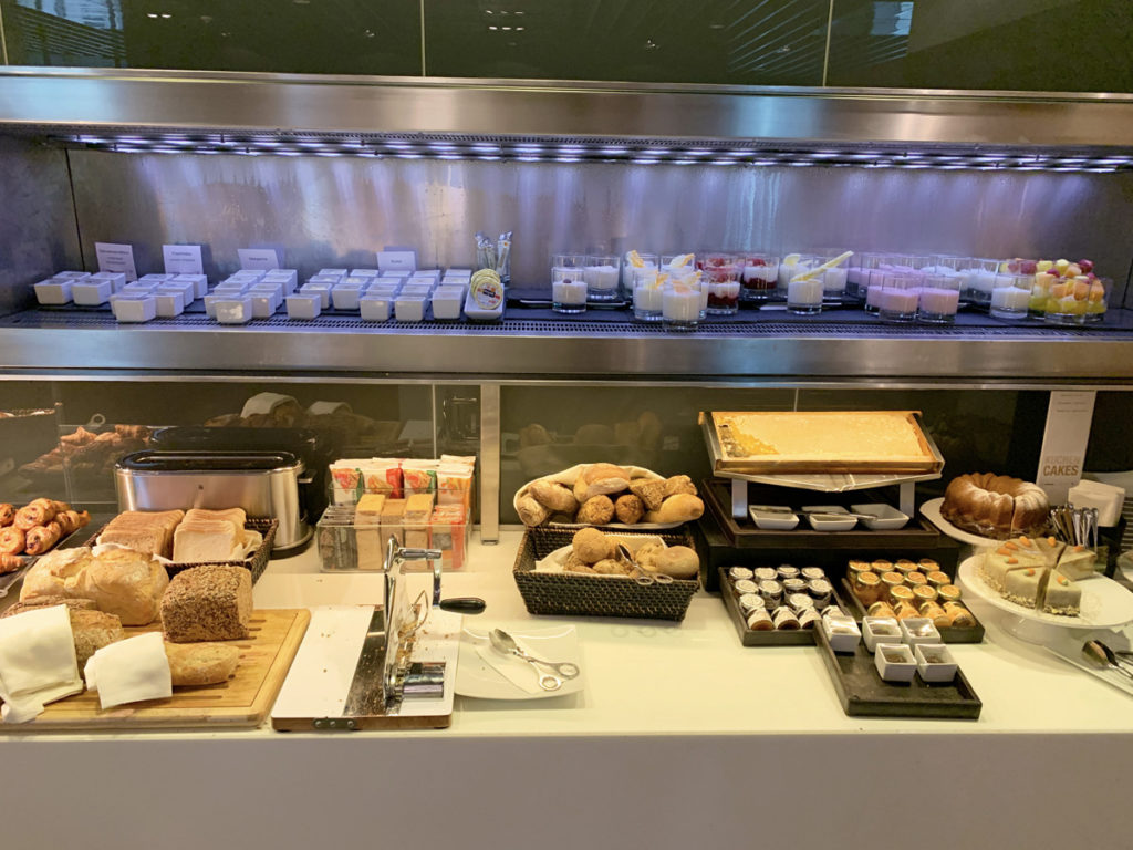 Frokostbuffet i First Class Terminal Frankfurt