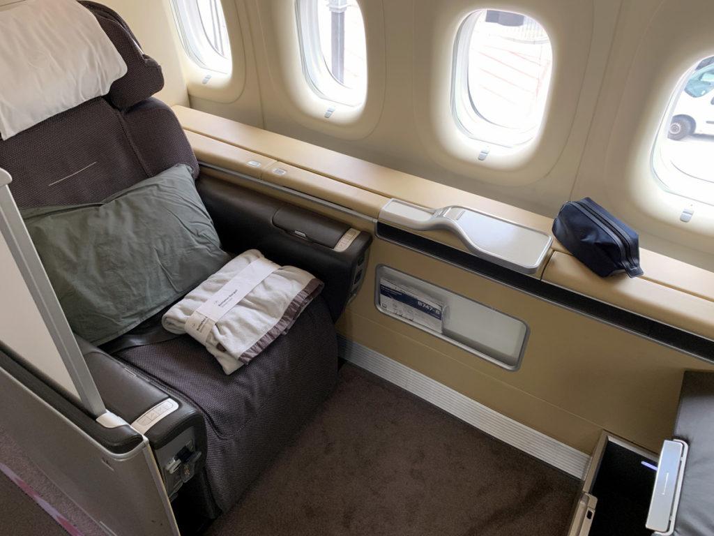 Lufthansa First Class-kabin Boeing 747-8i