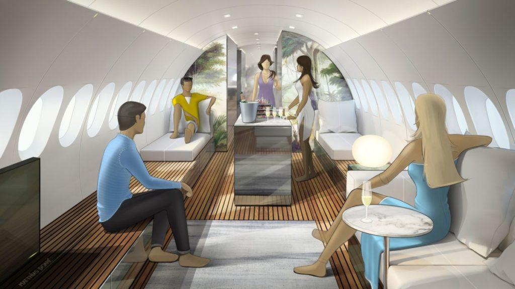 Lufthansa Technik Airbus A220 Skyretreat luksuskabin