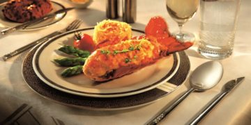 Singapore Airlines Lobster thermidor i first class og suites