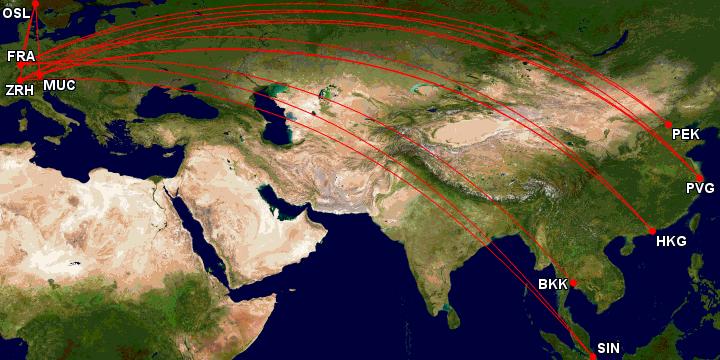 SWISS og Lufthansa First Class til Asia