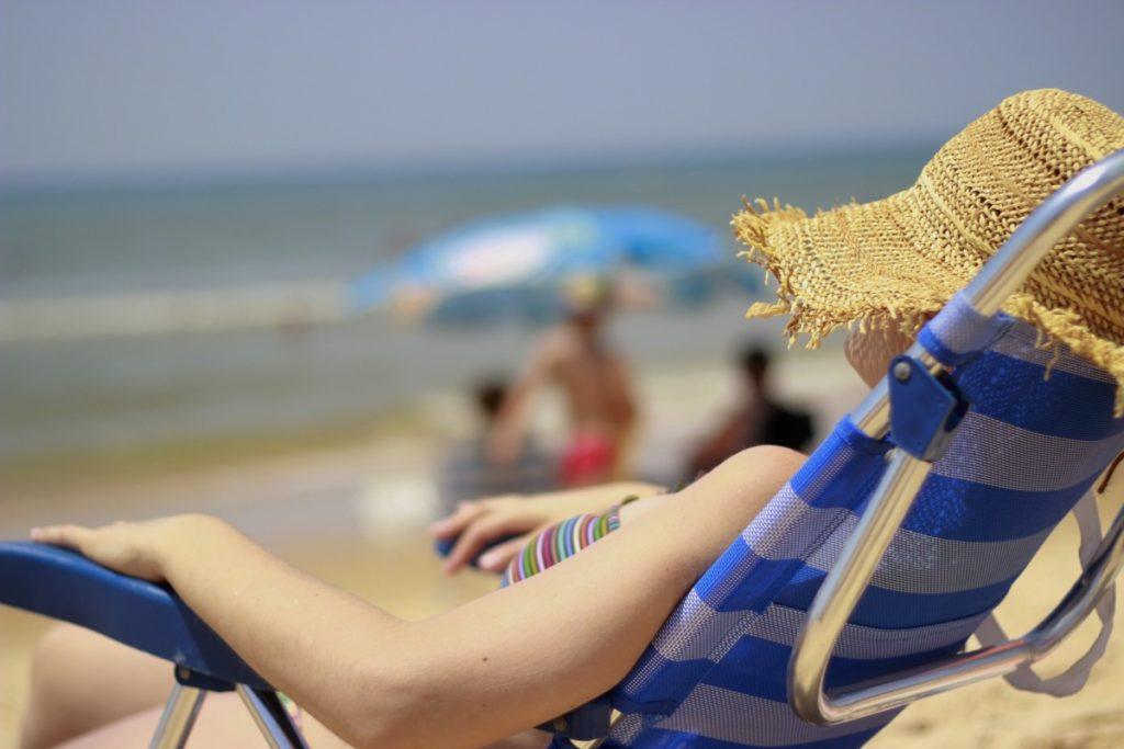 Strandliv i Huelva, Andalucia, Spania, Spania