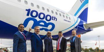 Airbus leverer sin A320neo-maskin nr. 1000 til IndiGo