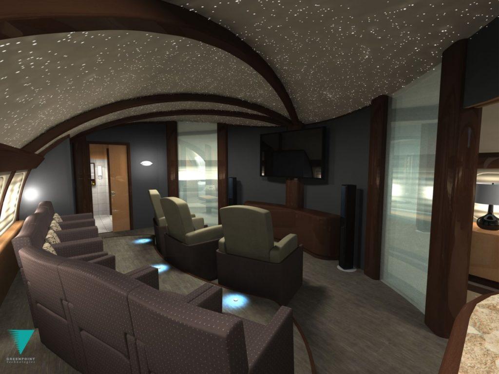 """Boeing Business Jet """"hjemmekino"""""""