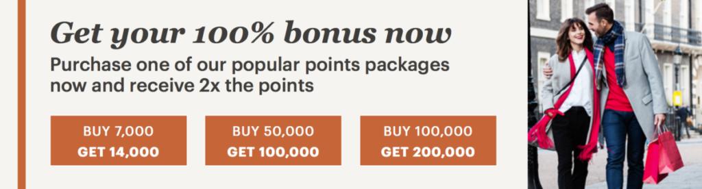 Få dobbelt opp når du kjøper bonuspoeng i IHG Rewards Club
