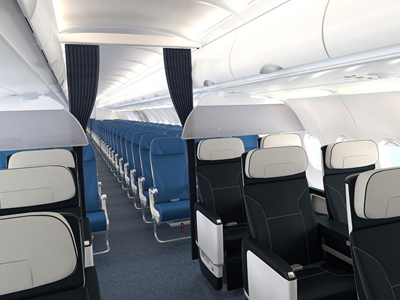 Air Transat Airbus A321neoLR kabin