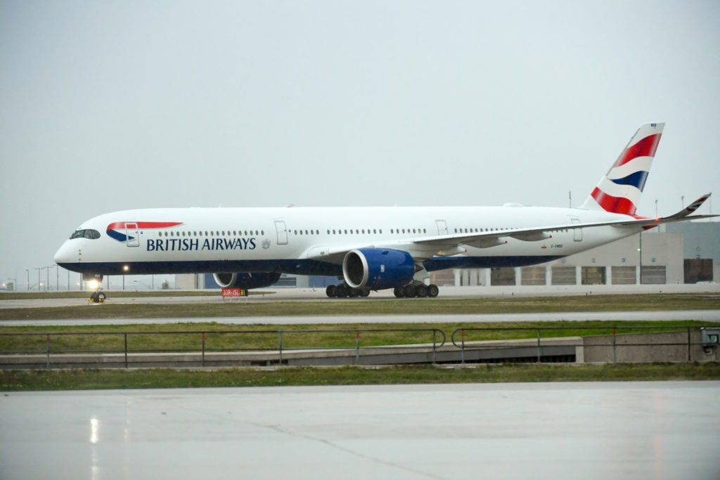 British Airways Airbus A350, Toronto, Canada