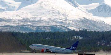 SAS Boeing 737 på Bardufoss