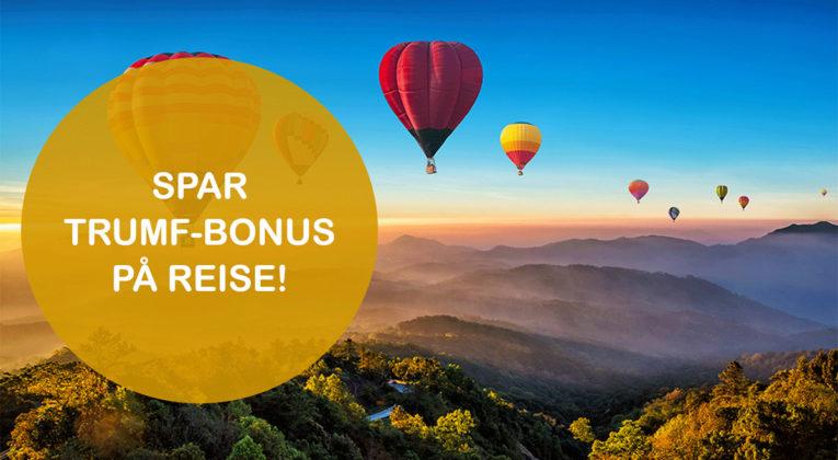 Få ekstra Trumf-bonus med ViaTrumf når du booker reiser denne uken