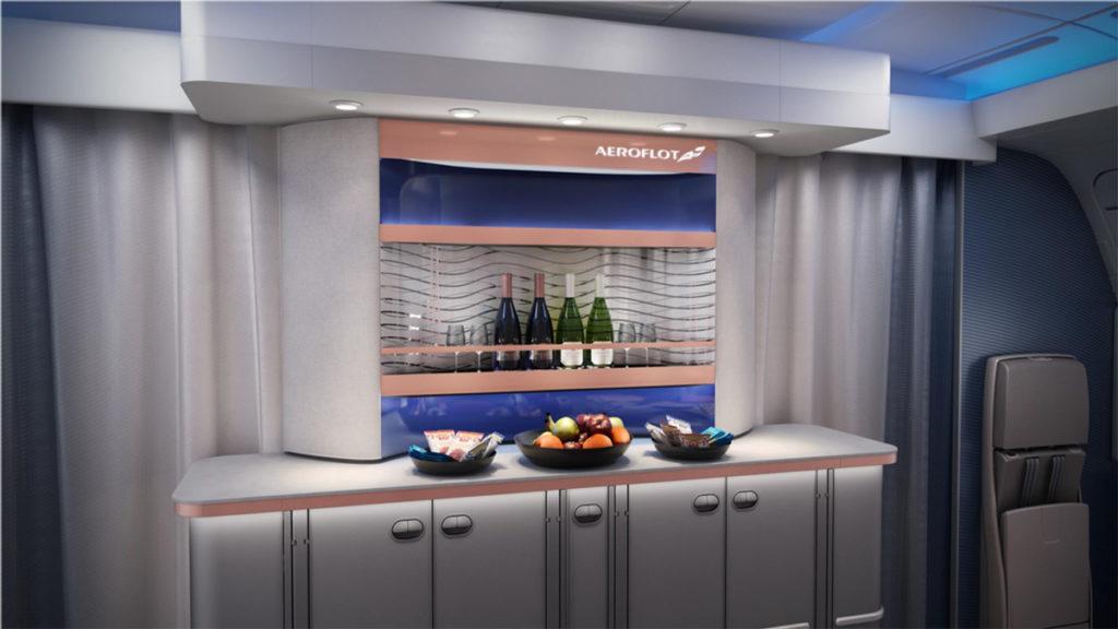 Aeroflot Airbus A350-900 interiør