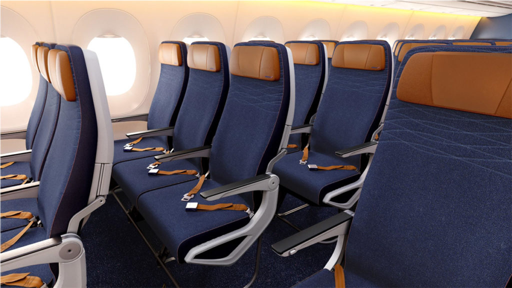 Aeroflot Airbus A350-900 økonomiklasse