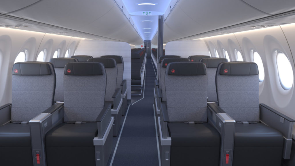 Air Canada Airbus A220 business class