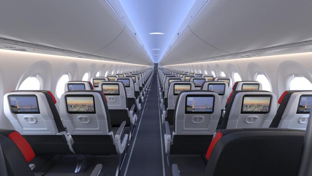 Air Canada sin Airbus A220 vil ha underholdningssytem, USB og strømkontakt i hvert sete