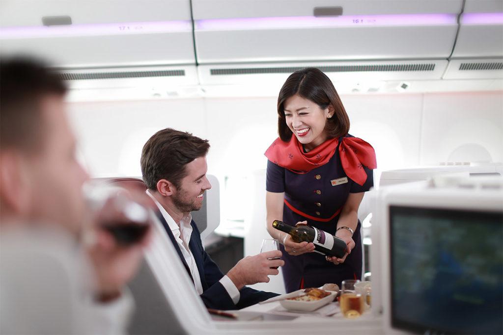 Hong Kong Airlines Business Class service
