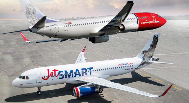 JetSMART Airlines Airbus A320 og Norwegian Boeing 737-800