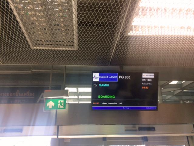 Boarding i Bangkok