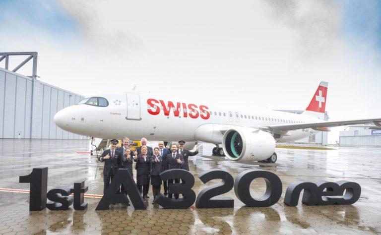 SWISS mottar sin første Airbus A320neo
