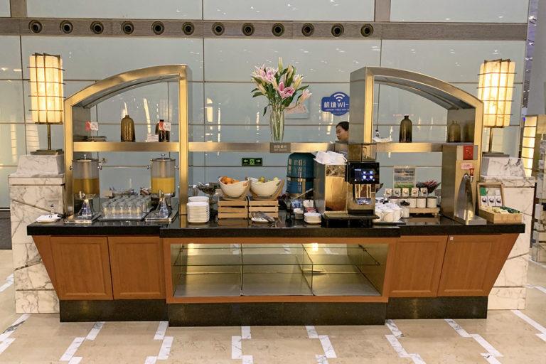 Snacks, te, kaffe og mineralvann
