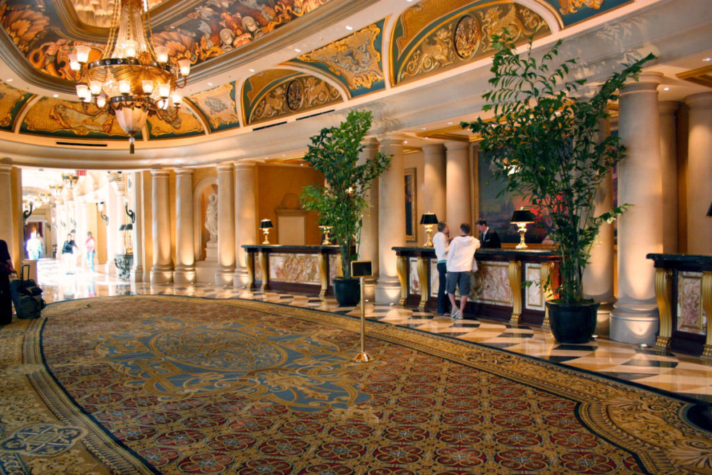 VIP check-in på The Venetian