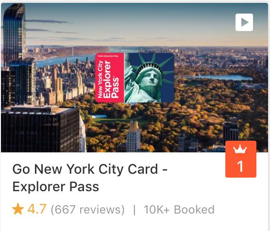 Go New York City Card - Explorer Pass