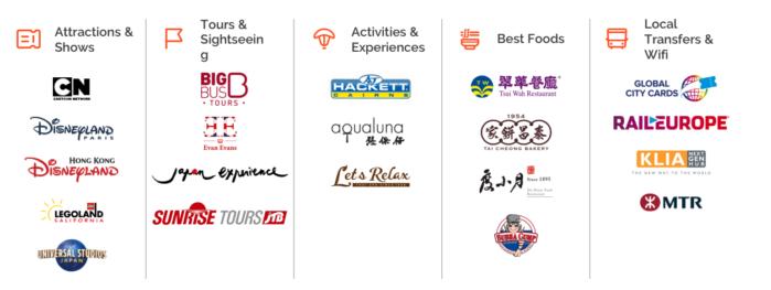 Klook samarbeider med over 10 000 leverandører over hele verden
