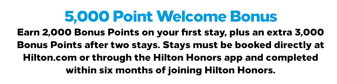 Meld deg inn i Hilton Honors – få 5000 bonuspoeng!