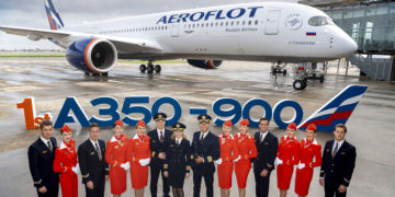 Aeroflot mottar sin første Airbus A350 med business class suites