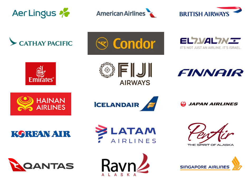 Alaska Airlines Mileage Plan partnere