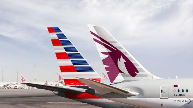 Qatar Airways og American Airlines med codeshare og strategisk samarbeid