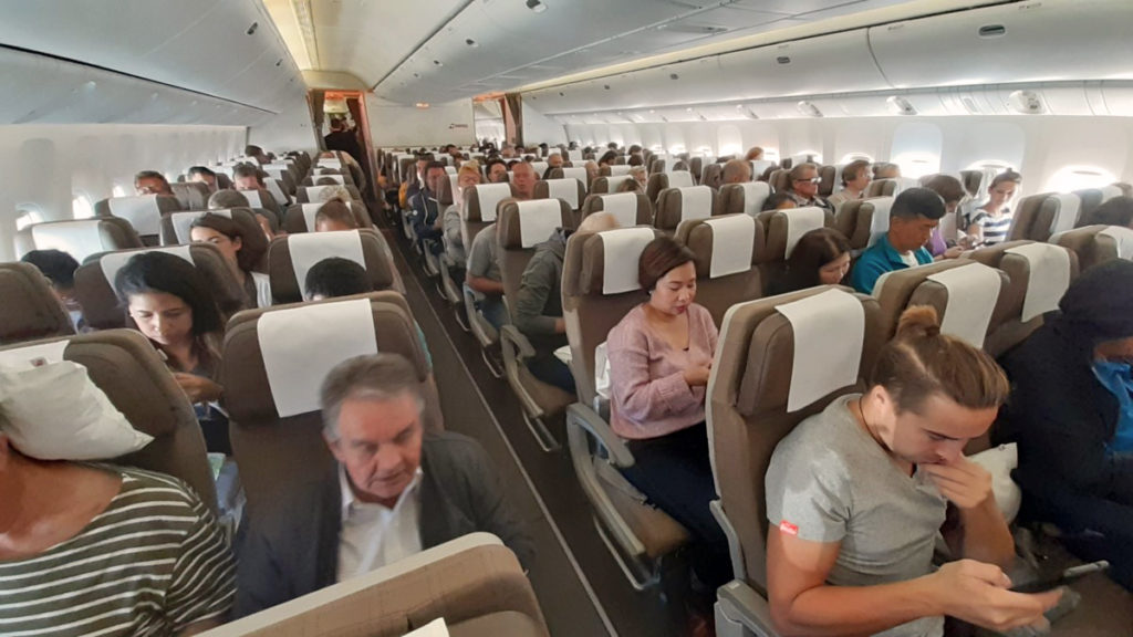 SWISS Boeing 777-300ER økonomiklasse